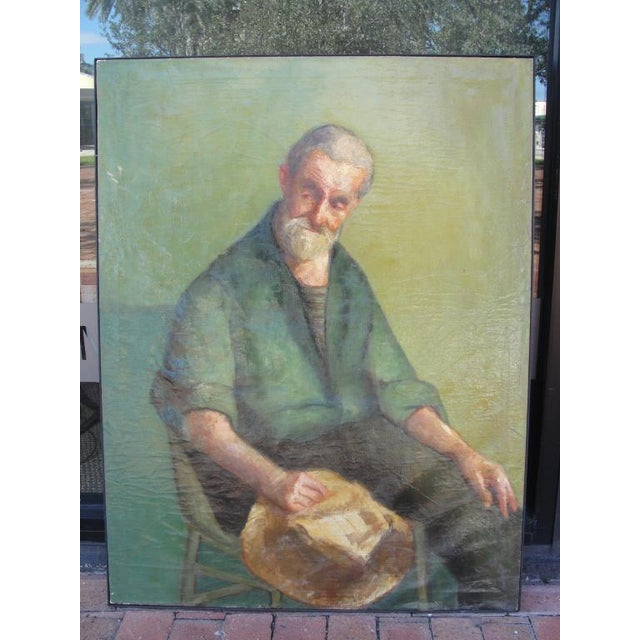 Early 20th Century Oil on Canvas Portrait of a Man - Image 5 of 8