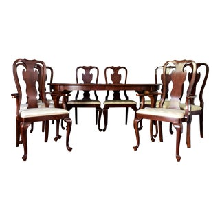 Drexel Carleton Line Cherry Dining Set - 9 Pieces For Sale