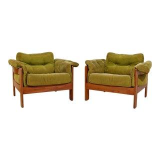 Mid Century Modern Pair of N. Eilersen Danish Lounge Chairs 1960s For Sale
