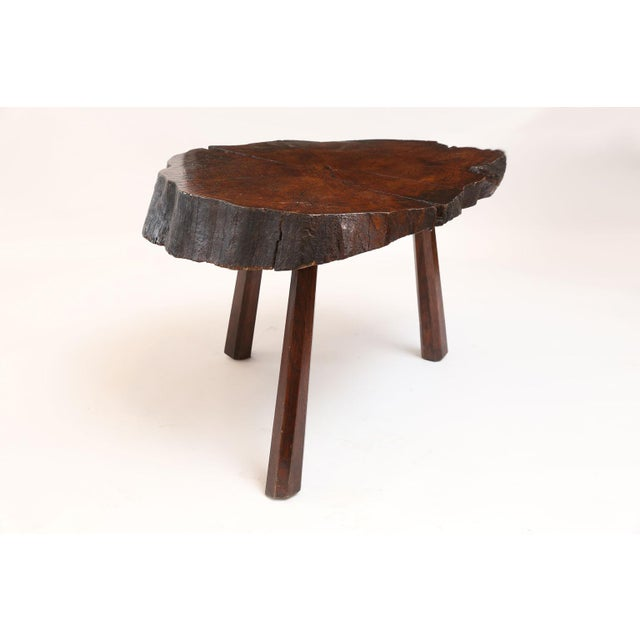 Vintage Tree Trunk Table For Sale - Image 11 of 13