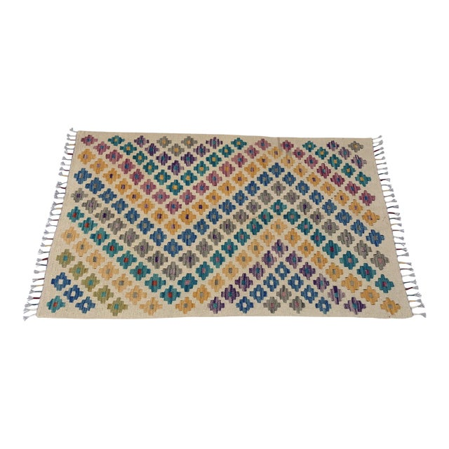 Turkish Handwoven Kilim Rug - 2′4″ × 3′9″ For Sale