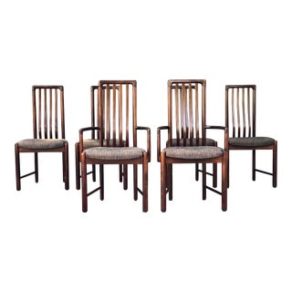 Boltinge Highback Danish Modern Dining Chairs - Set of 6 For Sale