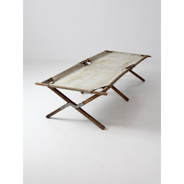 Vintage 1940s Army Cot For Sale - Image 4 of 12