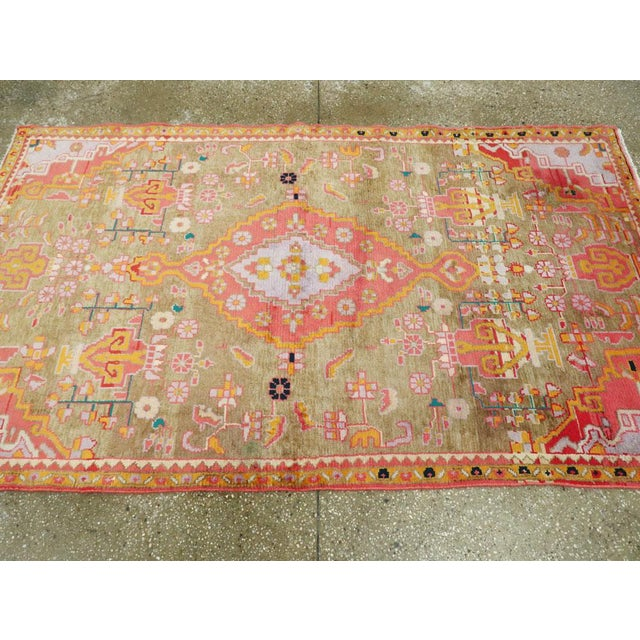 "Orange Vintage Persian Mahal Rug – Size: 3' 11"" X 6' 8"" For Sale - Image 8 of 10"
