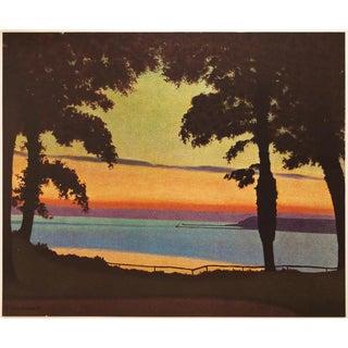 1947 Félix Vallotton Paysage Lithograph For Sale
