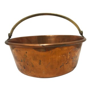 Early 20th Century Vintage Copper Jam Pot For Sale