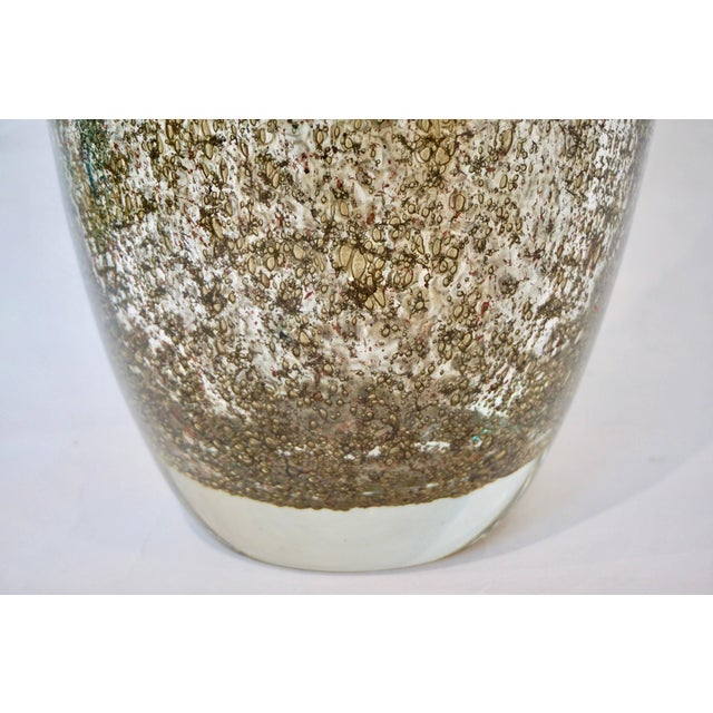 2010s Alberto Dona Italian Bronze Color Murano Glass Vases With Brass Dust - a Pair For Sale - Image 5 of 11