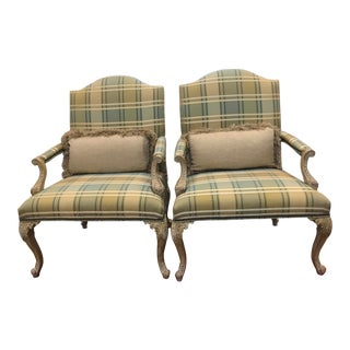 "Modern Fine Furniture Co ""Biltmore"" Armchairs- a Pair For Sale"