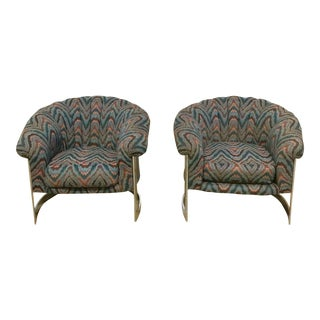 Milo Baughman Style Chairs- A Pair For Sale