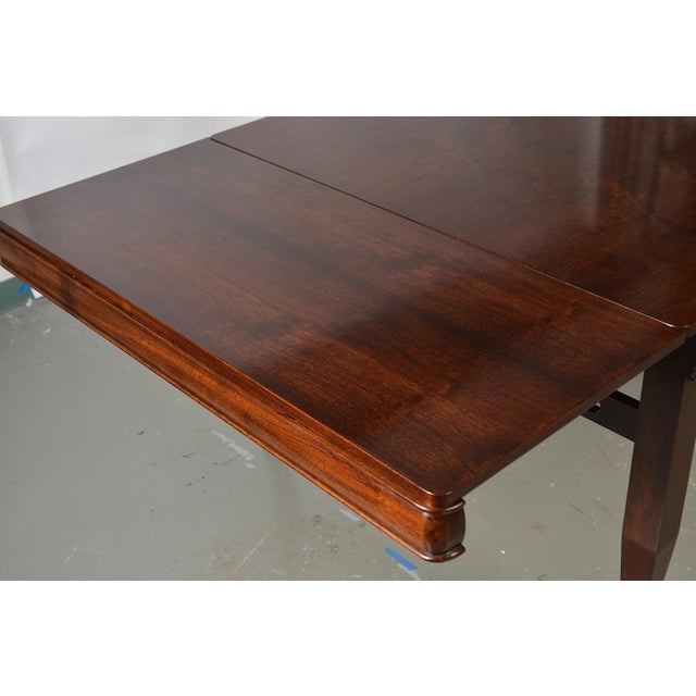 Wood Bespoke Art Deco Style Walnut Extending Dining Table For Sale - Image 7 of 12