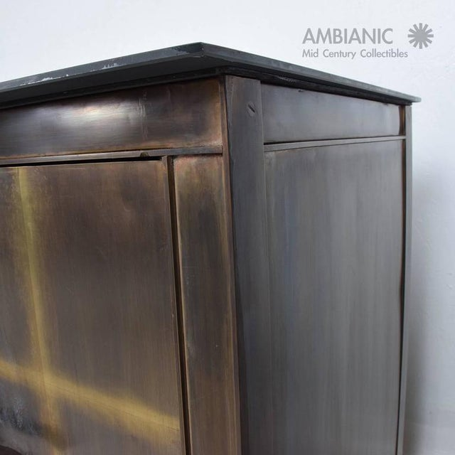 Mid-Century Modern Mid-Century Mexican Modern Bronze Credenza For Sale - Image 3 of 8