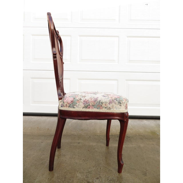 Late 19th Century Antique French Carved Mahogany Art Nouveau Side Chair For Sale - Image 10 of 13