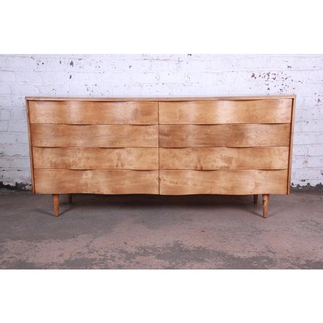 Edmond Spence Wave Front Long Dresser For Sale - Image 11 of 11