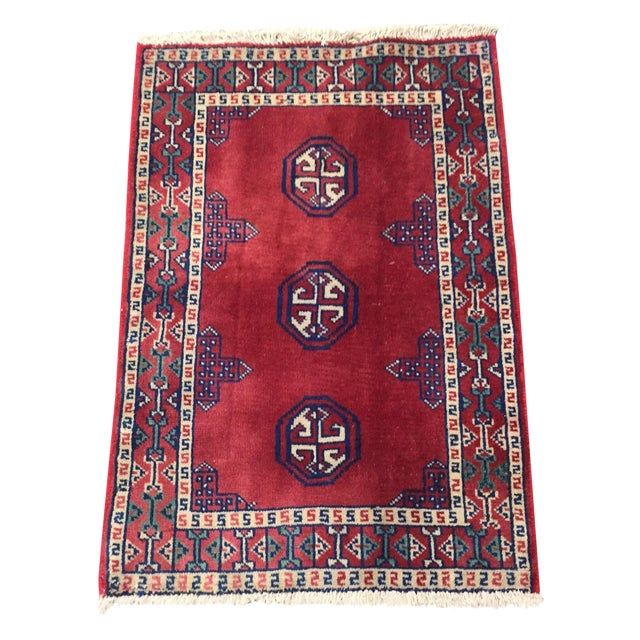 Turkaman Red Persian Rug - 2′2″ × 3′1″ - Image 1 of 8