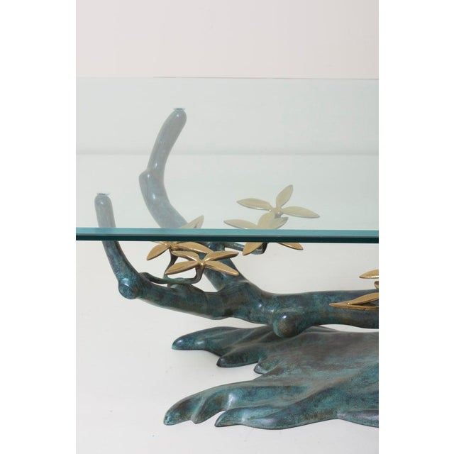1960s Brass Bonsai Tree Coffee or Side Table in the Manner of Willy Daro For Sale - Image 5 of 13
