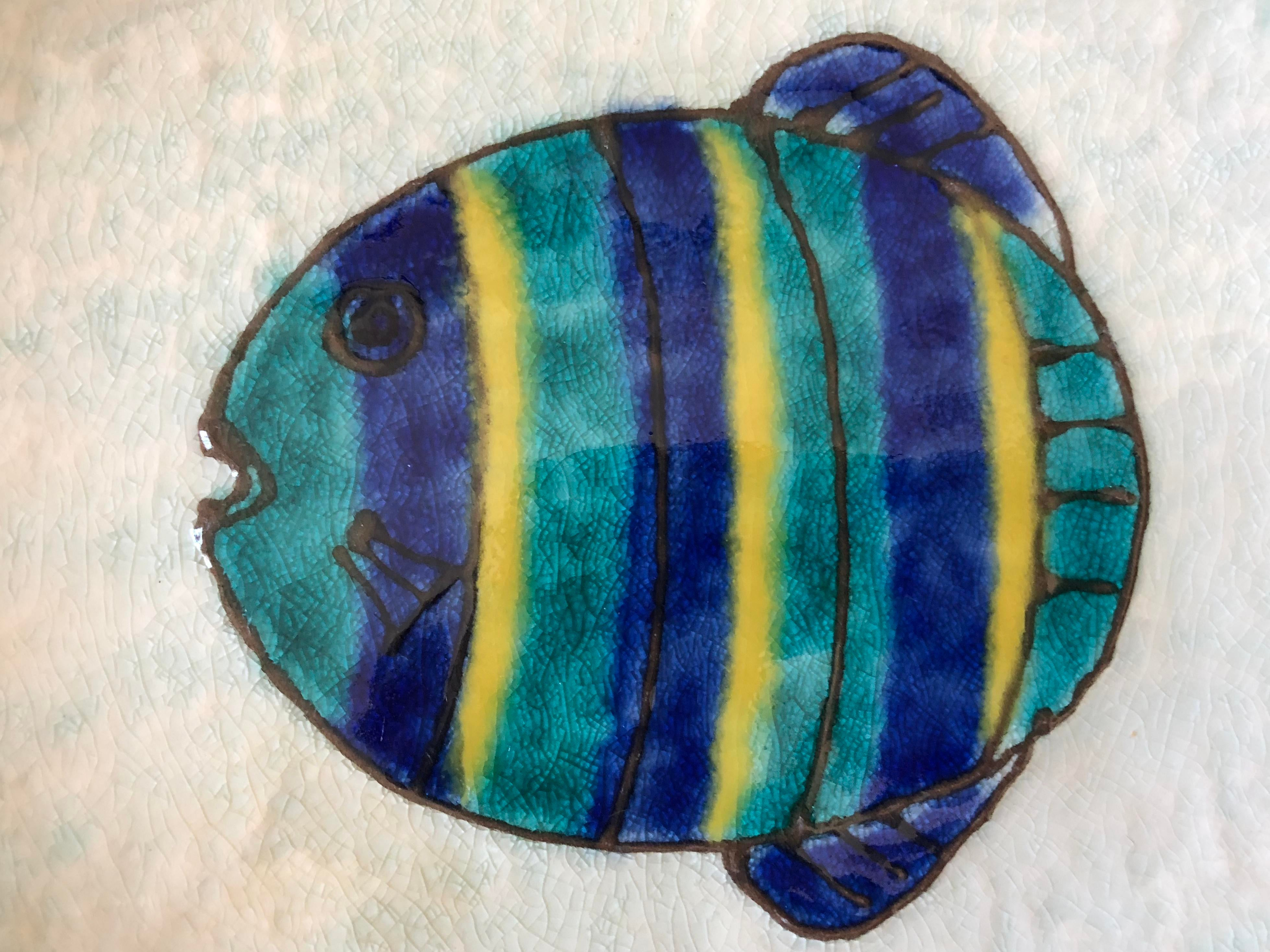 Vintage Kotobuki San Francisco Japanese Fish Plates   Set Of 12   Image 3  Of 7