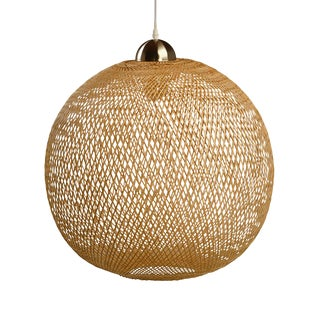 Wicker Weave Globe Lantern For Sale