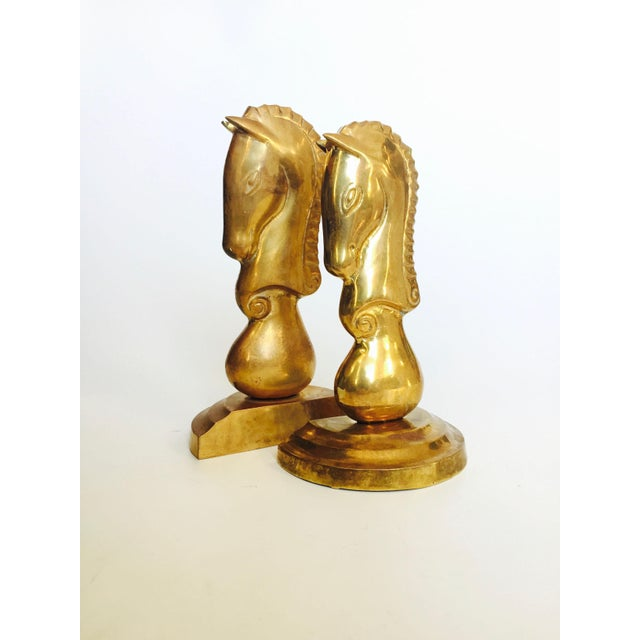 Brass Vintage Brass Horse Bookends - a Pair For Sale - Image 7 of 7