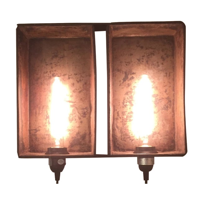 Industrial Bread Pan Sconce - Image 1 of 5