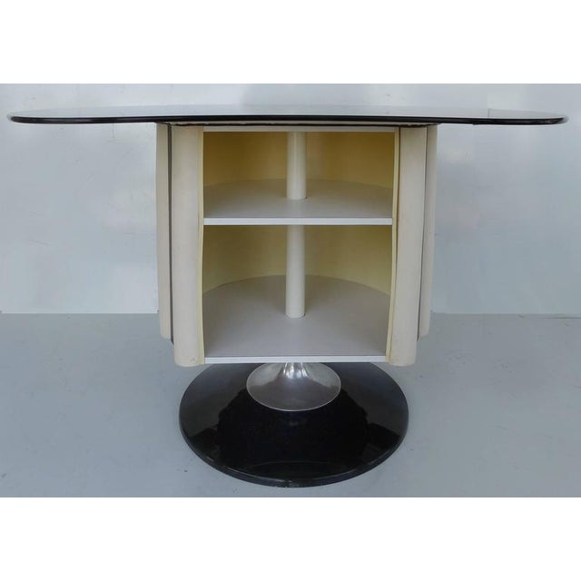 Contemporary 1970s Mid-Century Modern Chromecraft Acrylic & Chrome Dry Bar & Two Stools - 3 Pieces For Sale - Image 3 of 11