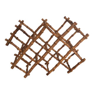 Vintage Bamboo Tortoise Expandable Wine Rack For Sale