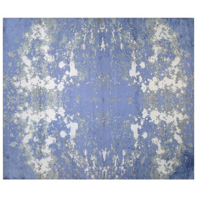 Stark Studio Rugs Contemporary New Oriental Tibetan Silk Rug - 8′2″ × 9′10″ For Sale