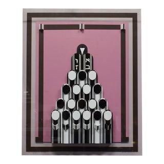 "Emile Dekel ""The Congregation"" Judaica Lucite 3-Dimensional Wall Art For Sale"