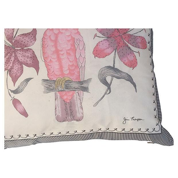 Pink Cockatoo Silk Scarf Pillows- A Pair - Image 4 of 5