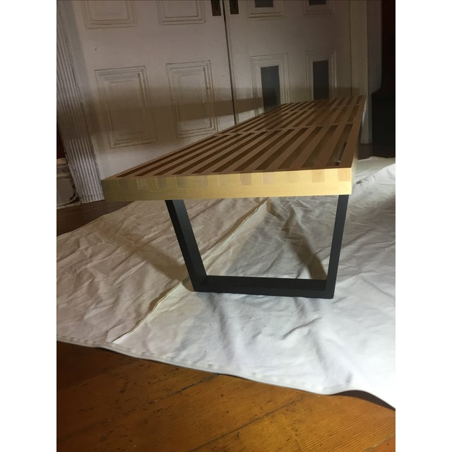 Mid-Century Herman Miller George Nelson Slat Bench in Maple - Image 5 of 8