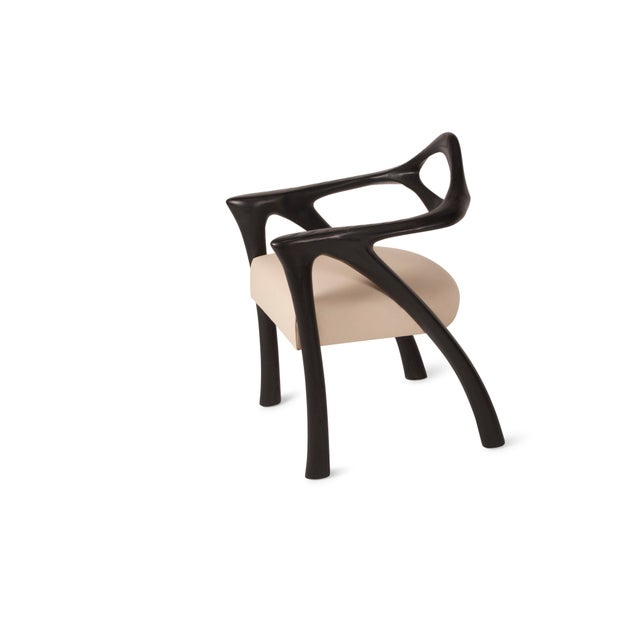 Wood Amorph Darcey Dining Chair in Ebony Stain For Sale - Image 7 of 10