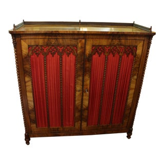 Mid 19th Century Vintage German Gothic Revival Cabinet For Sale