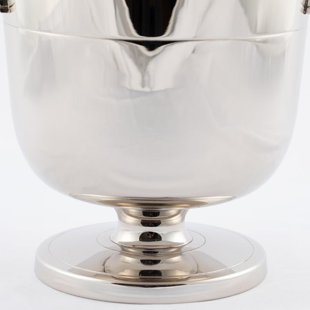 Art Deco Tommi Parzinger Polished-Nickel Ice Bucket, Circa 1950s For Sale - Image 3 of 9