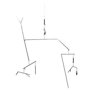 Contemporary Hanging Polished Steel Art Mobile Sculpture Artist Sign E. Bolinger For Sale