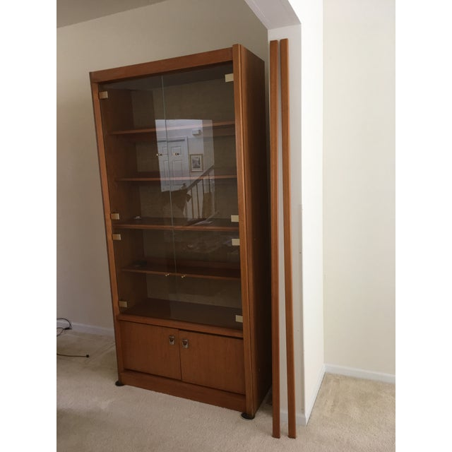 Mid-Century Swedish Teak Wall Cabinet - 3 Piece For Sale - Image 12 of 12