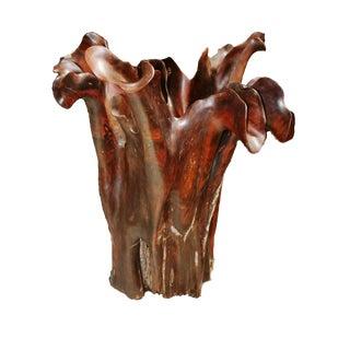 Rosewood Jumbo Flute Vase