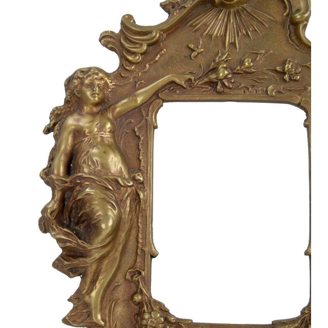 1970s Bronze Frames With Angel Motifs - Pair For Sale - Image 4 of 8