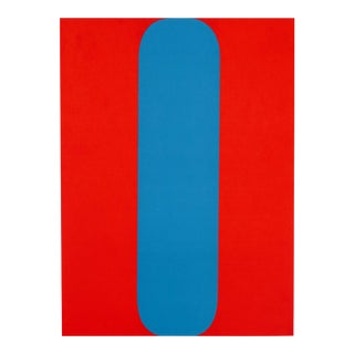 """Red and Blue"", Original Lithograph by Ellsworth Kelly From ""Derriere Le Miroir No.149 - Kelly - 1964"" For Sale"