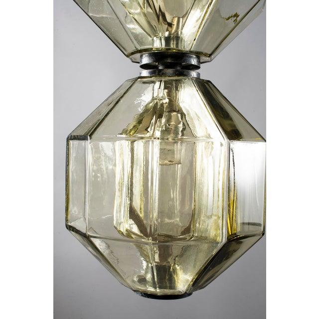 Vistosi Double Vessel Amber Glass Lantern For Sale - Image 9 of 10