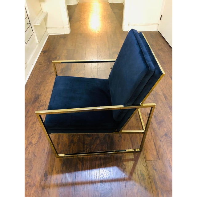 Vintage Mid Century Velvet Accent Chair For Sale In Los Angeles - Image 6 of 9