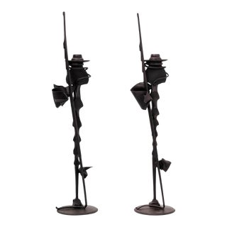 Pair of Albert Paley Condle Holders For Sale