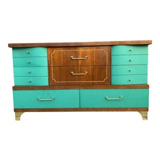 Mid Century Custom Lacquered 2 Tone Dresser For Sale