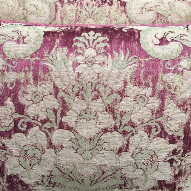 Custom Antique Textile Pillows - A Pair - Image 3 of 4