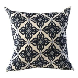 Custom Designer Indigo Linen Pillow