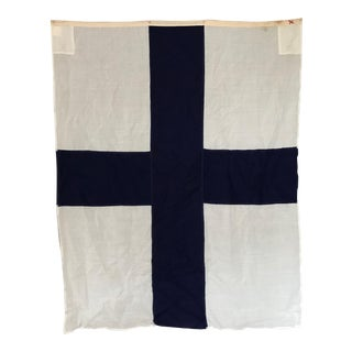 "Vintage Nautical Flag ""X"""