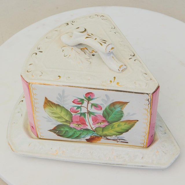 Antique Porcelain Covered Cheese Keep For Sale - Image 4 of 12