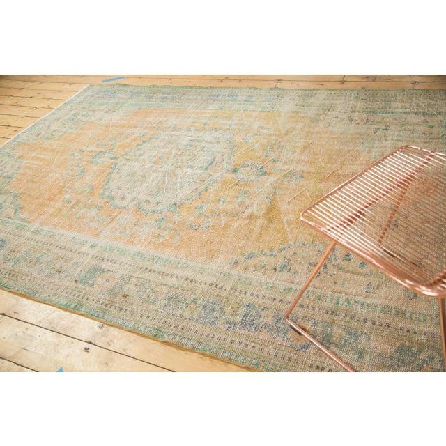 "Vintage Distressed Oushak Carpet - 6'3"" X 8'6"" - Image 3 of 11"