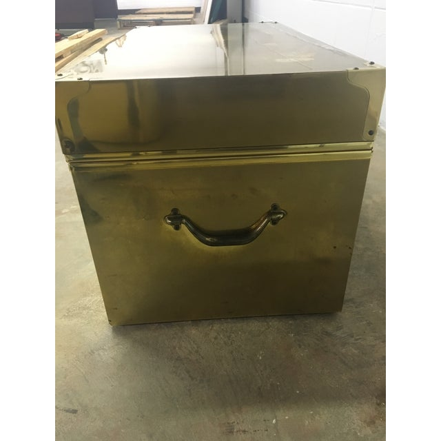 Dresher Cedar Lined Brass Trunk With Glass Top - Image 5 of 11