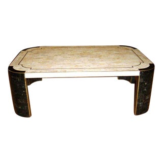 Maitland Smith Tessellated Stone Coffee Table For Sale