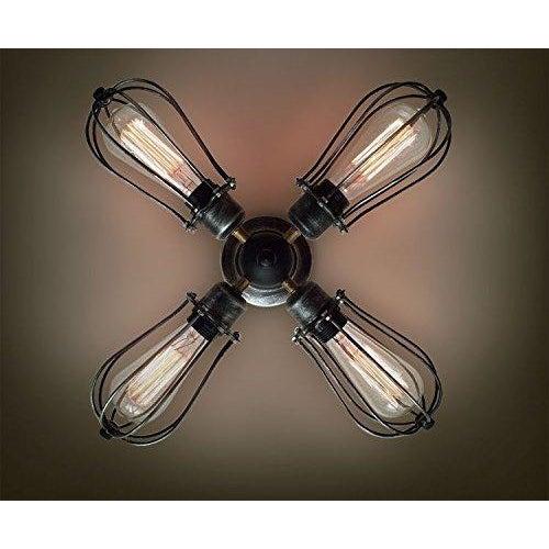 4 Bulb Vintage Industrial Ceiling Light - Image 3 of 3