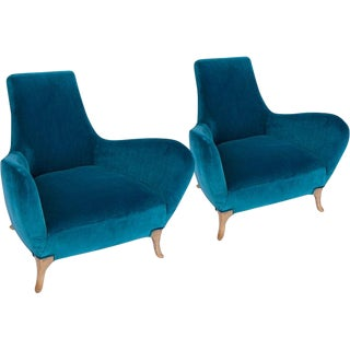 Pair of Sculptural Italian Midcentury Lounge Chairs